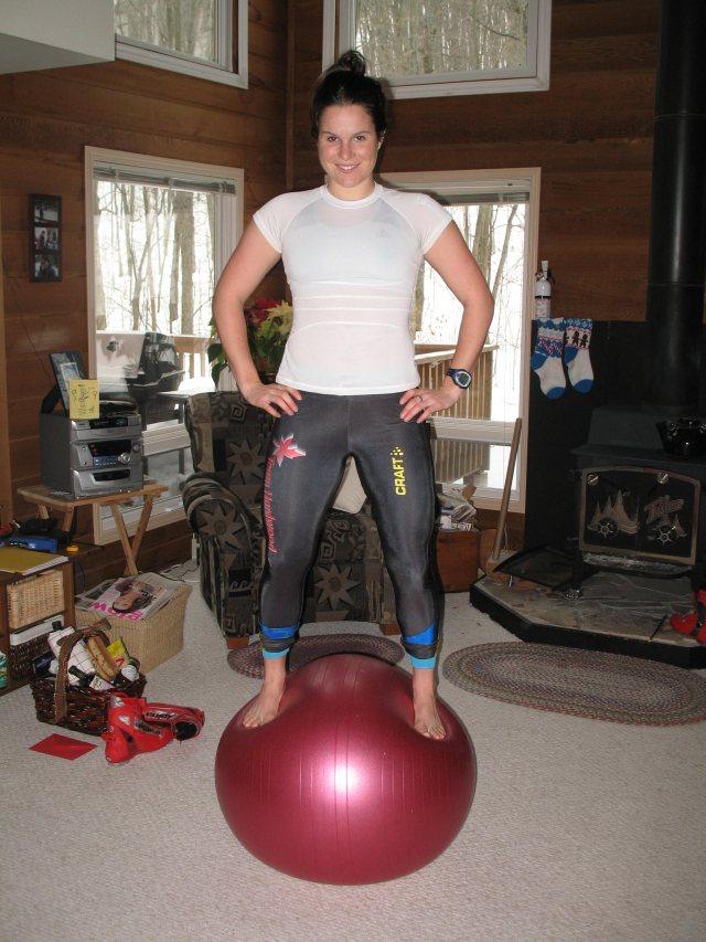 Alana doing the Christmas Balancing Act
