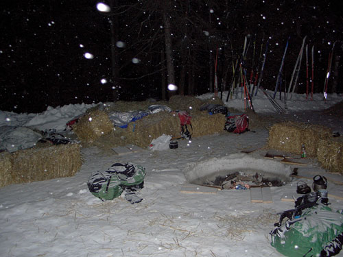 Typical bivouac arrangement