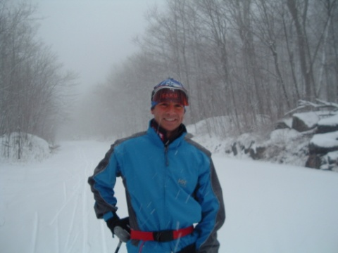 April skiing in Gatineau Park