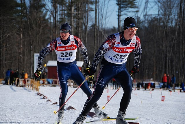 cross-country ski race: Brain Suke and Gavin Hamilton