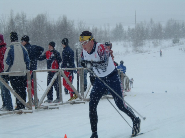 Andrew Wynd xc ski racing in Val Cartier