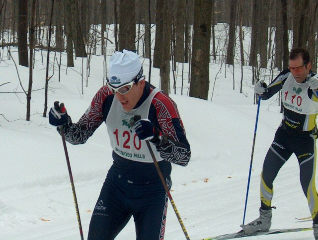 Wayne Dustin at the Fischer Hardwood Hills Loppet 2007